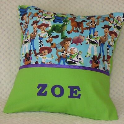 TOY STORY CHILDS/GIRLS/BOYS PERSONALISED CHARACTER CUSHION COVER (Toy Story Girl Characters)