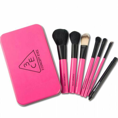 3CE Travel Mini Size Brush Kit Pink German Synthetic Bristle