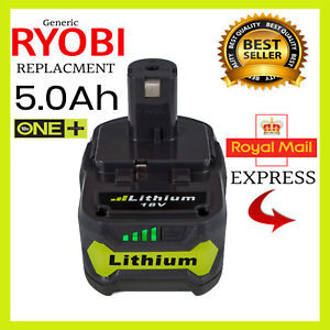 to fit RYOBI  ONE+ 18V  5.0 Ah BATTERY  (RB18L50) + WARRANTY