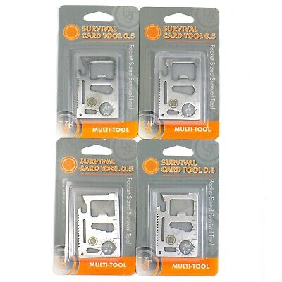 4 Pocket Wallet Sized Survival Card Tool Multi Gear Bug Out Camping Hiking UST