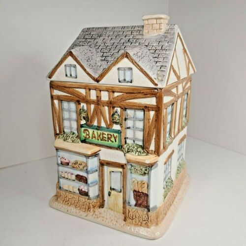 Vintage Cookie Jar Canister Cottage Style Tea Shop Bakery By Home Trends