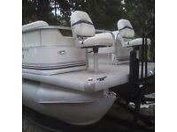 2003 MonArk Fantasy 220 Fish n Cruise 22ft Pontoon Boat 60hp Merc