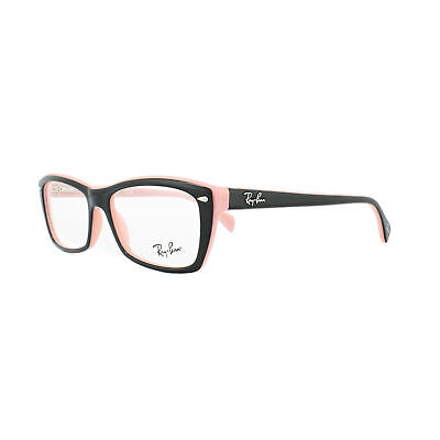 Ray-Ban Glasses Frames 5255 5024 Top Black on Pink 53mm Womens