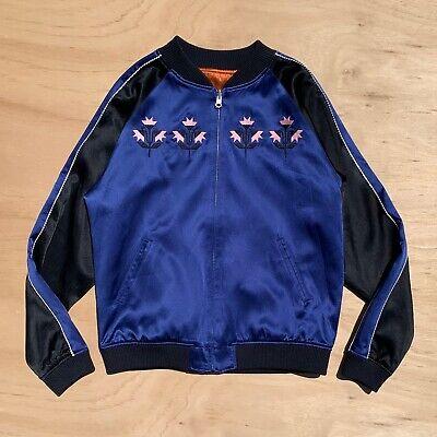 OPENING CEREMONY Blue/Orange Reversible Silk Souvenir Jacket Sukajan Bomber Sz M