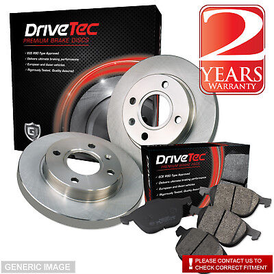 Peugeot 106 1.0 Box 44 Front Brake Pads Discs Kit Set 247mm Solid