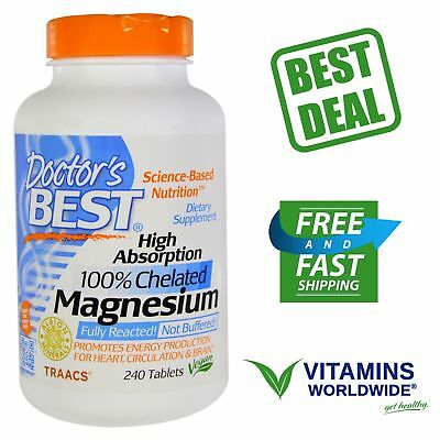 Doctor's Best, High Absorption Magnesium, Vegan, 100% Chelated, 240 -