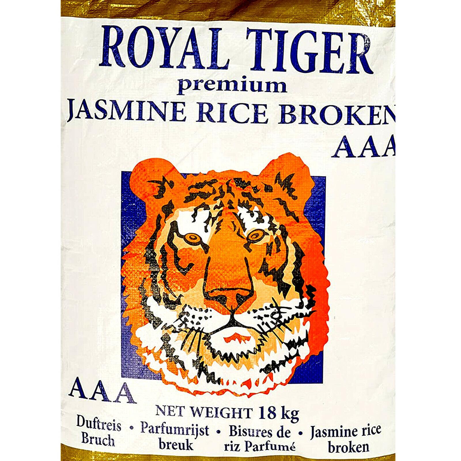 18 kg Royal Tiger Bruchreis Duftreis Jasminreis Premium Jasmine Rice Broken