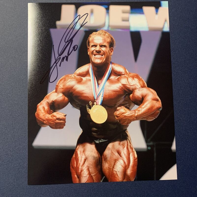 JAY CUTLER HAND SIGNED 8x10 PHOTO AUTOGRAPHED BODYBUILDER MR OLYMPIA LEGEND COA