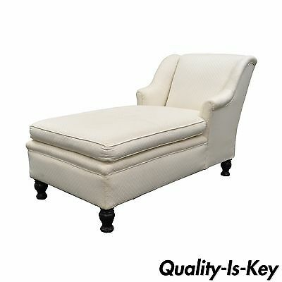 Antique French Empire Style Chaise Lounge Fainting Couch Sofa Bun Feet Recamier