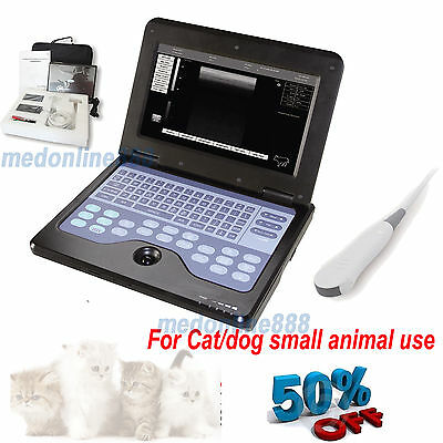 Vet Veterinary Laptop Ultrasound Scanner Machine For Dogcatanimal Micro Convex