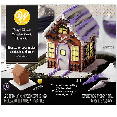 Wilton Chocolate Cookie HALLOWEEN HAUNTED HOUSE DECORATING KIT Ready to go - Quick Halloween Cookies