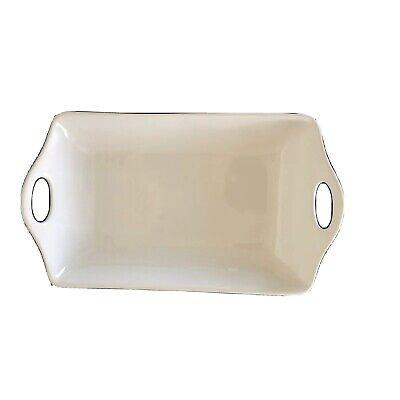 Housewares International Casa Blanca Rectangle Handled Platter 17.5