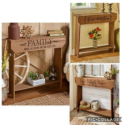 Farmhouse Rustic Country Decorative Wooden Side Accent Table Furniture End Stand