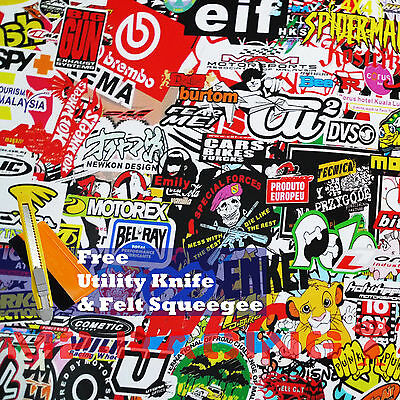 *Premium JDM USDM Anime Graffiti StickerBomb Vinyl Decal Sticker Wrap Sheet #LIO