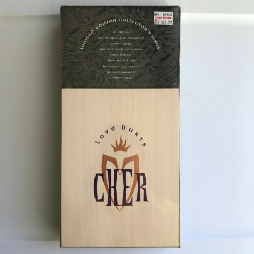 CHER Love Hurts RARE Limited Edition Wooden Box CD + Tarot Cards SEALED