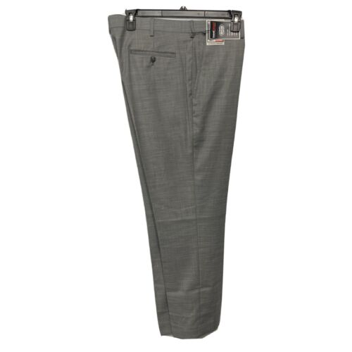 Roundtree & Yorke Travel Smart Classic Fit Flat Front Pants Slacks 42×30 Grey Clothing, Shoes & Accessories
