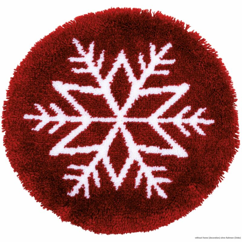 "Vervaco Latch hook kit shaped rug ""Ice star"""