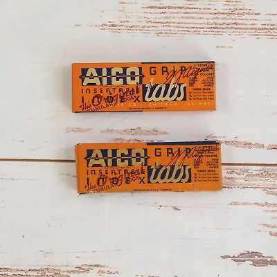 Vintage 1934 Lot Of 2 Aico Insertable Clear Tabs Office Supply