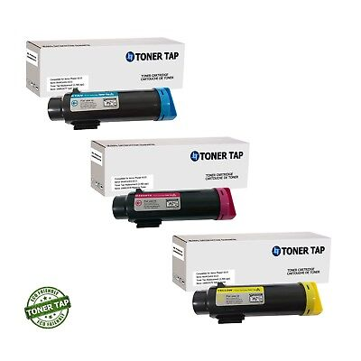 Toner Tap Compatible for Xerox Phaser 6510 WorkCentre 6515 High Yield 3-Pack CMY
