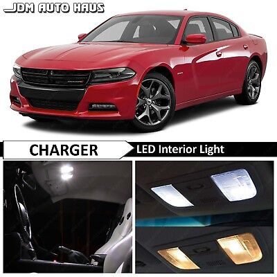 2015-2018 Dodge Charger 15x White Interior LED Lights Bulbs Replacement Package