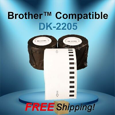 Brother Ql Compatible Dk-2205 Continuous Feed Thermal White Labels Multipurpose