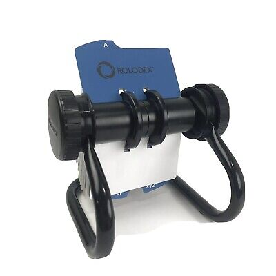Rolodex Black Open Rotary Business Card File Alpha Cards And Blank Cards Office