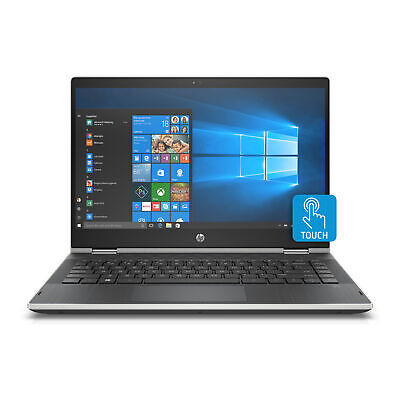 """HP Pavilion x360 14"""" Inch Convertible Touchscreen Laptop with 8GB RAM - Silver"""