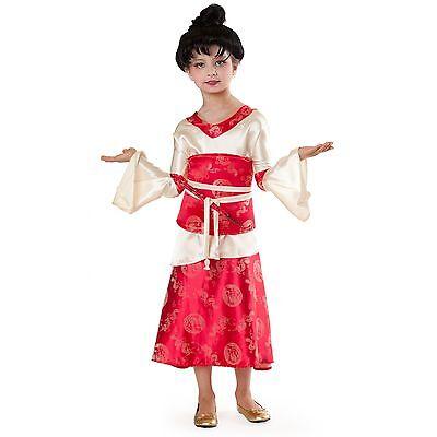 Girls KIMONO PRINCESS PARADISE Costume Dress Obi Child Large 10 Japanese Dragon