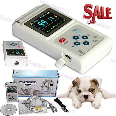 Veterinary Pulse Oximeter Handheld Vet Spo2 Pulse Tongue Probe Softwareus Stock