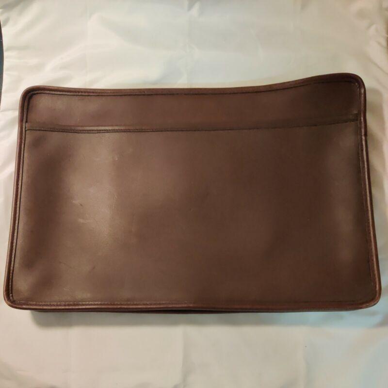COACH Vintage Leather Portfolio Briefcase Messenger Bag Dark Brown F8C-5225