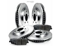 Fit 1984-1988 Nissan 300ZX 200SX Front Rear Drilled Brake Rotors+Ceramic Pads