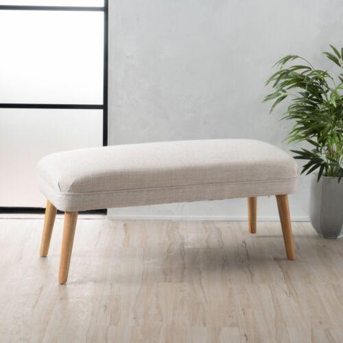 Dumont Mid Century Modern Fabric Ottoman Furniture