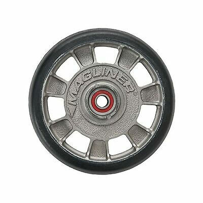 Magliner 10815 8 Diameter Mold On Rubber Wheel With Red Sealed Semi Precisi...