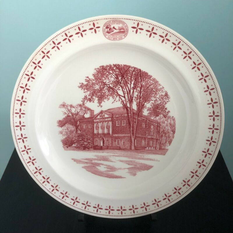 "PHILLIPS EXETER ACADEMY PLATE ""The Davis Library"" WEDGWOOD, 1956"