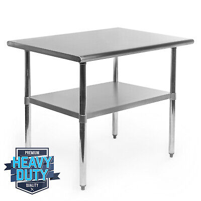 Open Box - Stainless Steel Commercial Kitchen Work Food Prep Table - 24 X 36