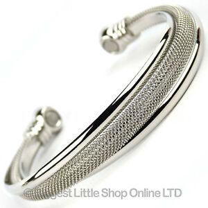 NEW-Ladies-Magnetic-Mesh-Style-Bangle-2-Rare-Earth-Magnets-Health-Benefits