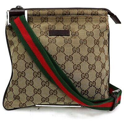 Gucci Shoulder Bag  Browns Canvas 829304