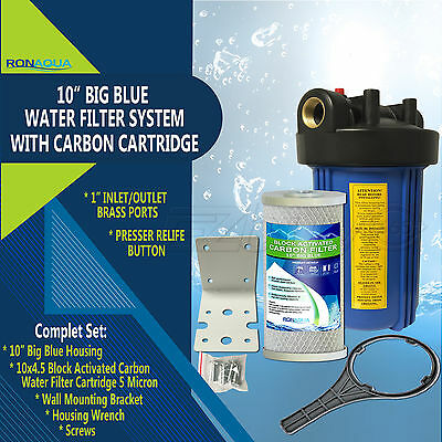 10  Big Blue Whole House System With 4 5X10  Carbon Block Water Filter