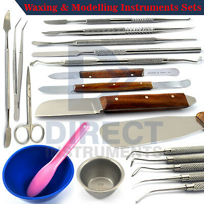 Range Of Dental Laboratory Instruments Kits Waxing Modelling Carvers Spatula Lab