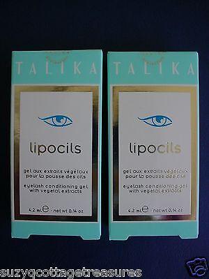 2 X TALIKA Lipocils Eyelash Conditioning Gel 4.2ml Grow 28 days Eye Lash New USA