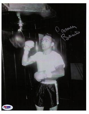 (Carmen Basilio signed photo boxing boxer COA PSA/DNA)