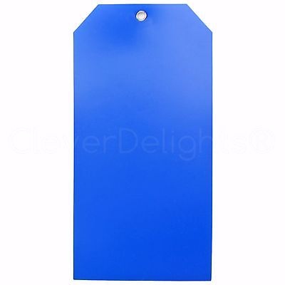 50 Blue Plastic Tags - 6.25 X 3.125 - Tearproof - Inventory Id Price Tags