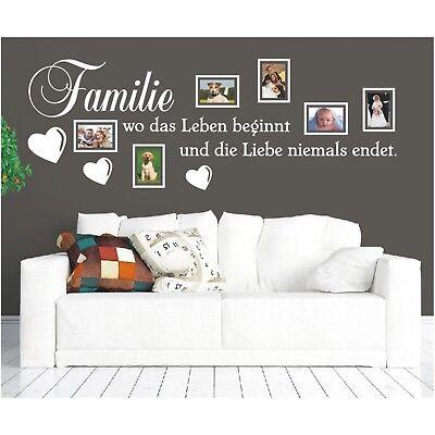 milie Leben Liebe Bilderrahmen Foto Wandsticker Aufkleber 4 (Foto Sprüche)