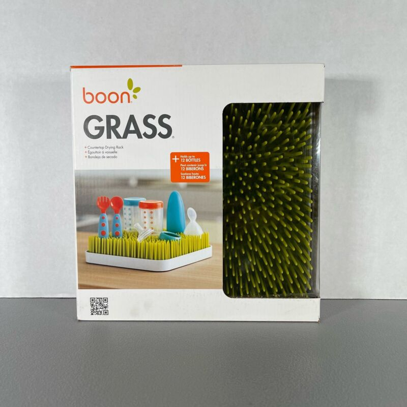 New Open Box Boon Lawn Grass Countertop Baby Bottle And Dish Drying Rack - Green