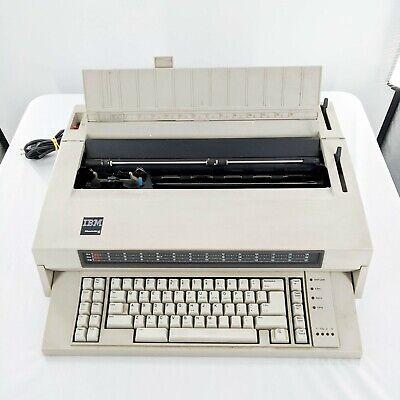 Vintage Ibm Wheelwriter 6 Type 674x Electronic Typewriter 1986 - Tested Works
