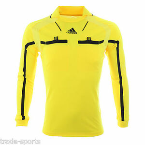 ADIDAS-MENS-LONG-SLEEVE-REFEREE-JERSEY-SIZE-S-M-L-XL-XXL-SHIRT-YELLOW-LINESMAN