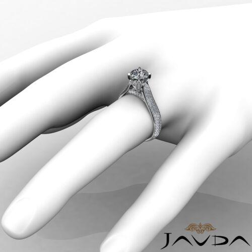 2.45ct Brilliant Cut Round Diamond Engagement Pave Set Ring GIA F VVS2 Platinum 3