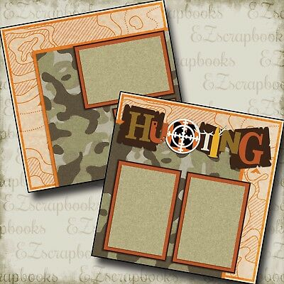 Hunting - 2 Premade Scrapbook Pages - EZ Layout 2189