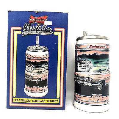 Cadillac Classic Car - Anheuser Busch Budweiser Classic Car Series Cadillac Eldorado Collectors Stein
