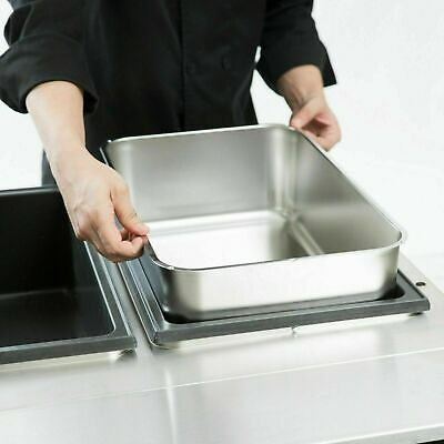 Stainless Steel 6 Deep Steam Table Water Spillage Pan Buffet 3 Pack Swp-6